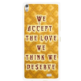 Snooky Printed Accept Love Mobile Back Cover For Gionee Elife S5.1 - Yellow