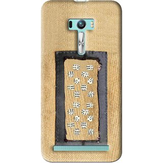 Snooky Printed Dice Mobile Back Cover For Asus Zenfone Selfie - Brown