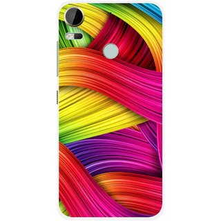 Snooky Printed Color Waves Mobile Back Cover For HTC Desire 10 Pro - Multi