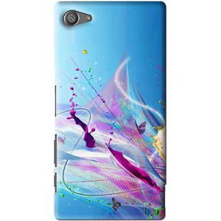 Snooky Printed Blooming Color Mobile Back Cover For Sony Xperia Z5 Compact - Multi