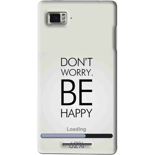 Snooky Printed Be Happy Mobile Back Cover For Lenovo K910 - Grey