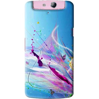 Snooky Printed Blooming Color Mobile Back Cover For Oppo N1 Mini - Multi