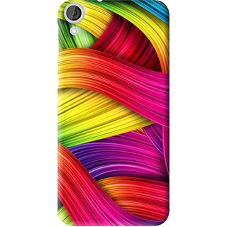 Snooky Printed Color Waves Mobile Back Cover For HTC Desire 820 - Multi