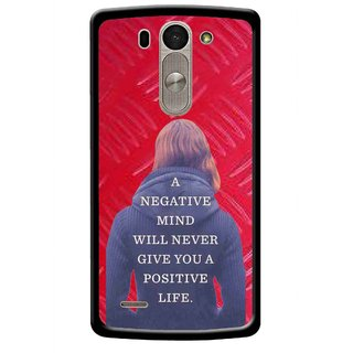 Snooky Printed Be Positive Mobile Back Cover For Lg G3 Beat D722k - Red