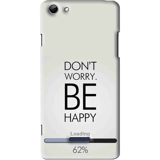 Snooky Printed Be Happy Mobile Back Cover For Micromax Canvas Selfie 3 Q348 - Grey