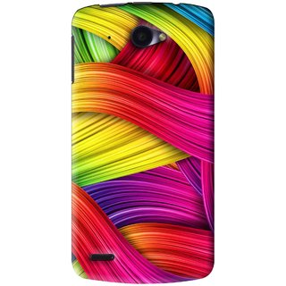 Snooky Printed Color Waves Mobile Back Cover For Lenovo S920 - Multi