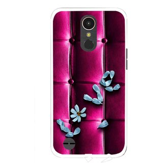 Snooky Printed Love Air Mobile Back Cover For LG K10 2017 - Purple