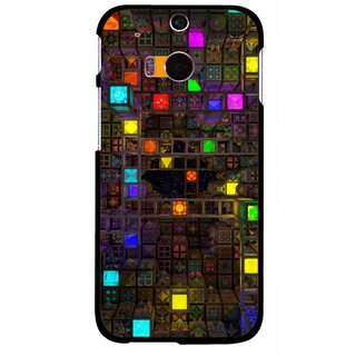 Snooky Printed Gaming Chamber Mobile Back Cover For HTC One M8 - Multi