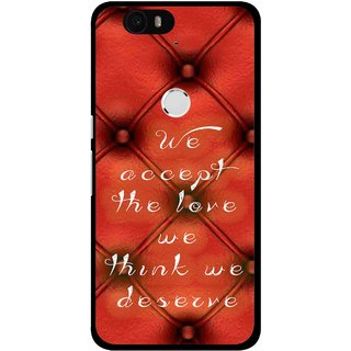 Snooky Printed We Deserve Mobile Back Cover For Huawei Nexus 6P - Red
