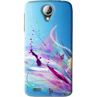 Snooky Printed Blooming Color Mobile Back Cover For Lenovo A830 - Multi