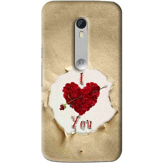 Snooky Printed Love Heart Mobile Back Cover For Motorola Moto X Play - Multi