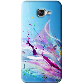 Snooky Printed Blooming Color Mobile Back Cover For Samsung Galaxy A7 2016 - Multi