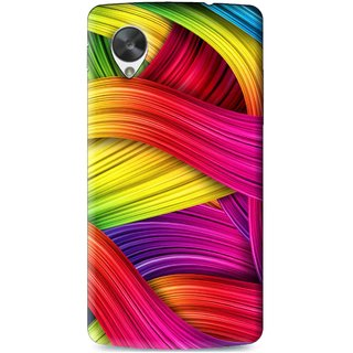 Snooky Printed Color Waves Mobile Back Cover For Lg Google Nexus 5 - Multi