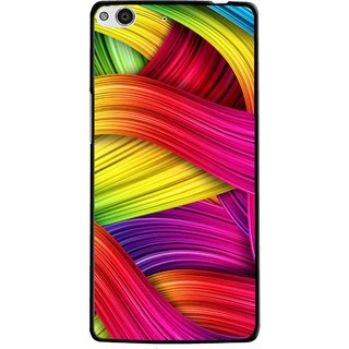 Snooky Printed Color Waves Mobile Back Cover For Gionee Elife E6 - Multi