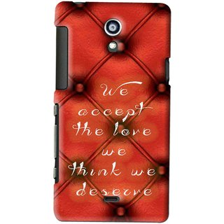 Snooky Printed We Deserve Mobile Back Cover For SONY XPERIA T - Red