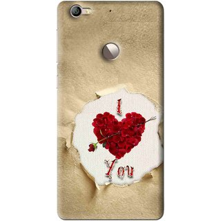 Snooky Printed Love Heart Mobile Back Cover For Letv Le 1S - Multi