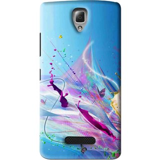 Snooky Printed Blooming Color Mobile Back Cover For Lenovo A2010 - Multi