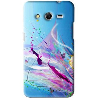 Snooky Printed Blooming Color Mobile Back Cover For Samsung Galaxy Core 2 - Multi