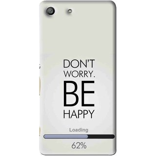 Snooky Printed Be Happy Mobile Back Cover For Sony Xperia M5 - Grey