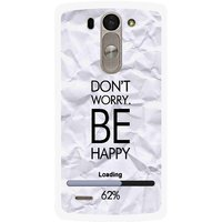 Snooky Printed Be Happy Mobile Back Cover For Lg G3 Beat D722k - Grey