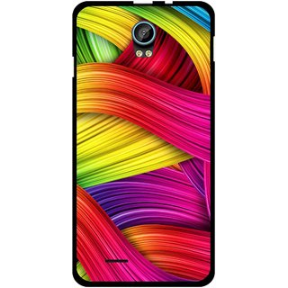 Snooky Printed Color Waves Mobile Back Cover For Intex Aqua Life 2 - Multi