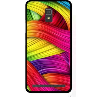 Snooky Printed Color Waves Mobile Back Cover For Lenovo A6600 - Multi