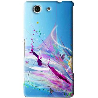 Snooky Printed Blooming Color Mobile Back Cover For Sony Z3 Mini - Multi
