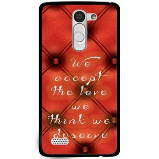 Snooky Printed We Deserve Mobile Back Cover For Lg L Bello - Red