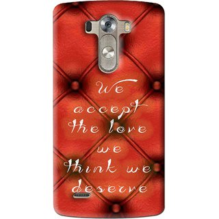 Snooky Printed We Deserve Mobile Back Cover For Lg G3 - Red