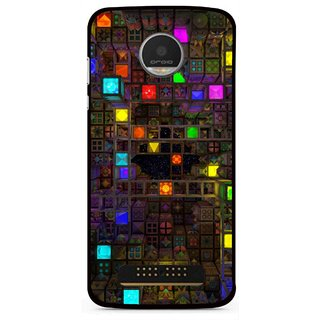 Snooky Printed Gaming Chamber Mobile Back Cover For Moto Z Play - Multi