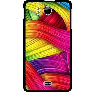 Snooky Printed Color Waves Mobile Back Cover For Micromax Canvas DOODLE A111 - Multi