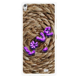 Snooky Printed Love Rove Mobile Back Cover For Gionee Elife S5.1 - Brown