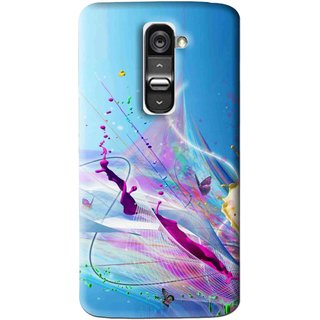 Snooky Printed Blooming Color Mobile Back Cover For Lg G2 - Multi