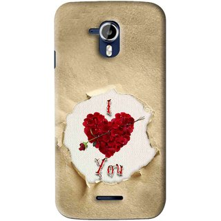 Snooky Printed Love Heart Mobile Back Cover For Micromax Canvas Magnus A117 - Multi