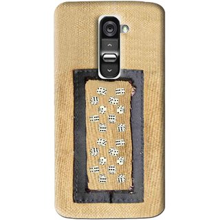 Snooky Printed Dice Mobile Back Cover For Lg G2 - Brown