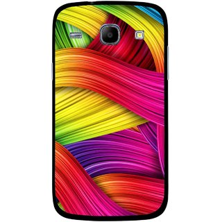 Snooky Printed Color Waves Mobile Back Cover For Samsung Galaxy Core - Multi
