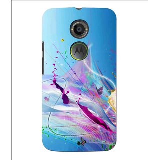 Snooky Printed Blooming Color Mobile Back Cover For Moto X 2nd Gen. - Multi