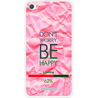 Snooky Printed Be Happy Mobile Back Cover For Micromax Canvas Hue 2 - Pink