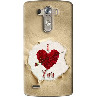 Snooky Printed Love Heart Mobile Back Cover For Lg G3 - Multi