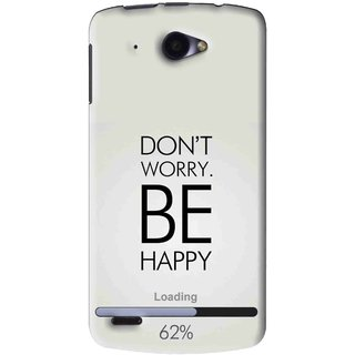 Snooky Printed Be Happy Mobile Back Cover For Lenovo S920 - Grey