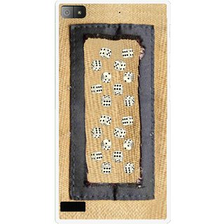 Snooky Printed Dice Mobile Back Cover For Blackberry Z3 - Brown