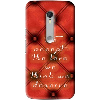 Snooky Printed We Deserve Mobile Back Cover For Motorola Moto X Style - Red