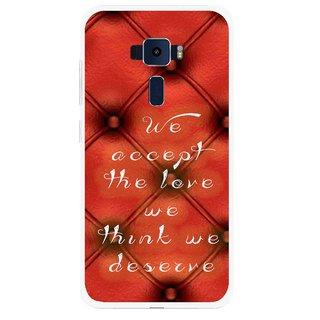 Snooky Printed We Deserve Mobile Back Cover For Asus Zenfone 3 ZE520KL - Red