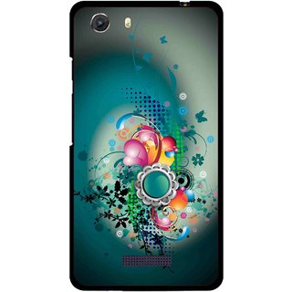 Snooky Printed Sky Flower Mobile Back Cover For Micromax Canvas Unite 3 - Multi