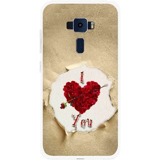 Snooky Printed Love Heart Mobile Back Cover For Asus Zenfone 3 ZE520KL - Multi