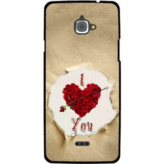 Snooky Printed Love Heart Mobile Back Cover For Infocus M350 - Multi