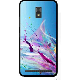 Snooky Printed Blooming Color Mobile Back Cover For Lenovo A6600 - Multi