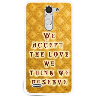 Snooky Printed Accept Love Mobile Back Cover For Lg L Fino - Yellow
