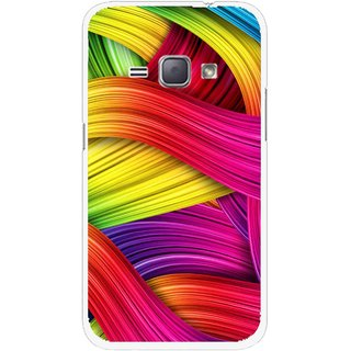 Snooky Printed Color Waves Mobile Back Cover For Samsung Galaxy J1 - Multi