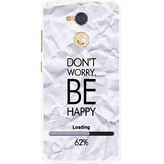 Snooky Printed Be Happy Mobile Back Cover For Gionee S6 Pro - Grey